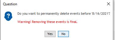 delete event popup