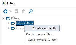 creating event filter 1