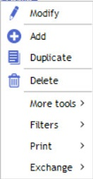 contextual menu resources