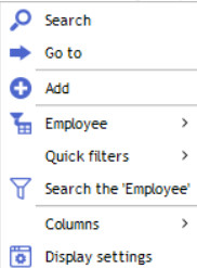 contextual menu schedule view 1