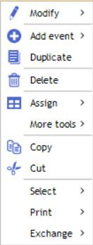 contextual menu schedule 3