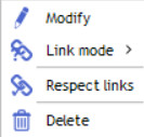 contextual menu links
