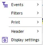 contextual menu schedule header