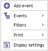 contextual menu schedule on the schedule