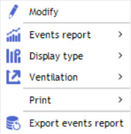 contextual menu events report