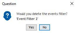 event filter delete