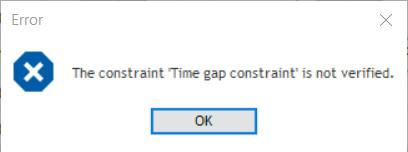 time gap constraint prohibition
