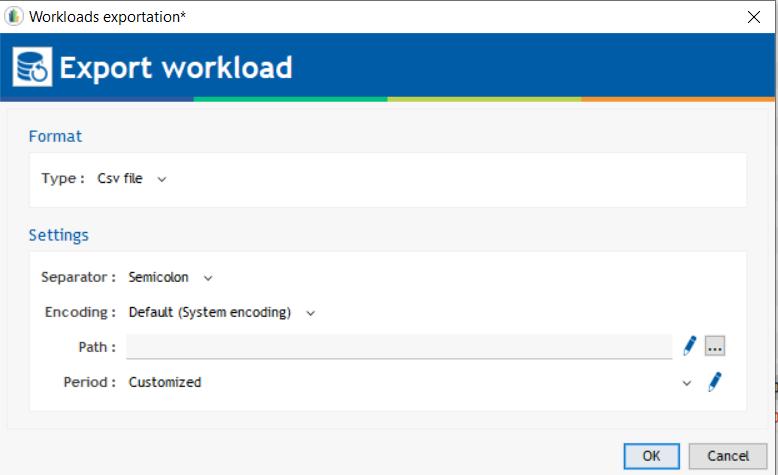workload export