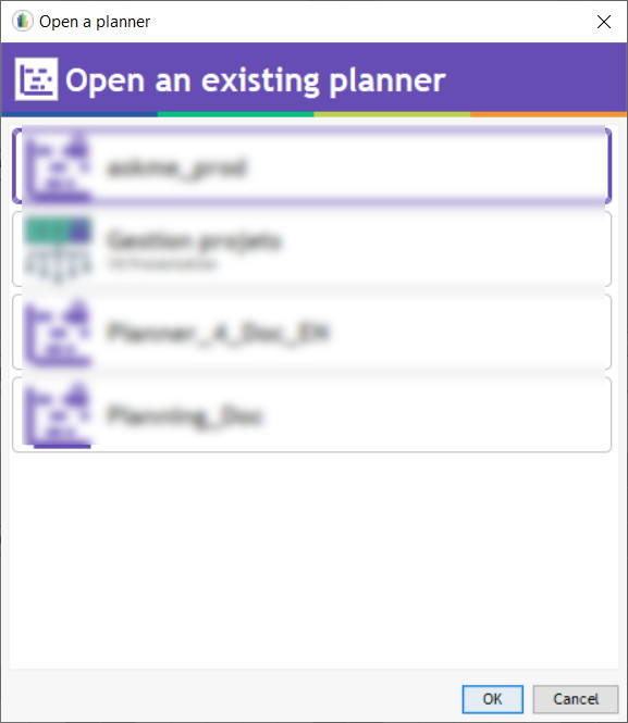 open existing planner
