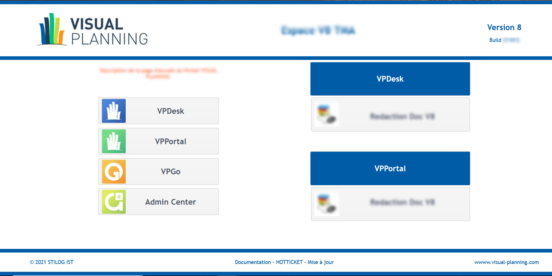 visual planning portal