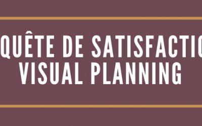 Découvrez les résultats de notre enquête de satisfaction 2019 Visual Planning