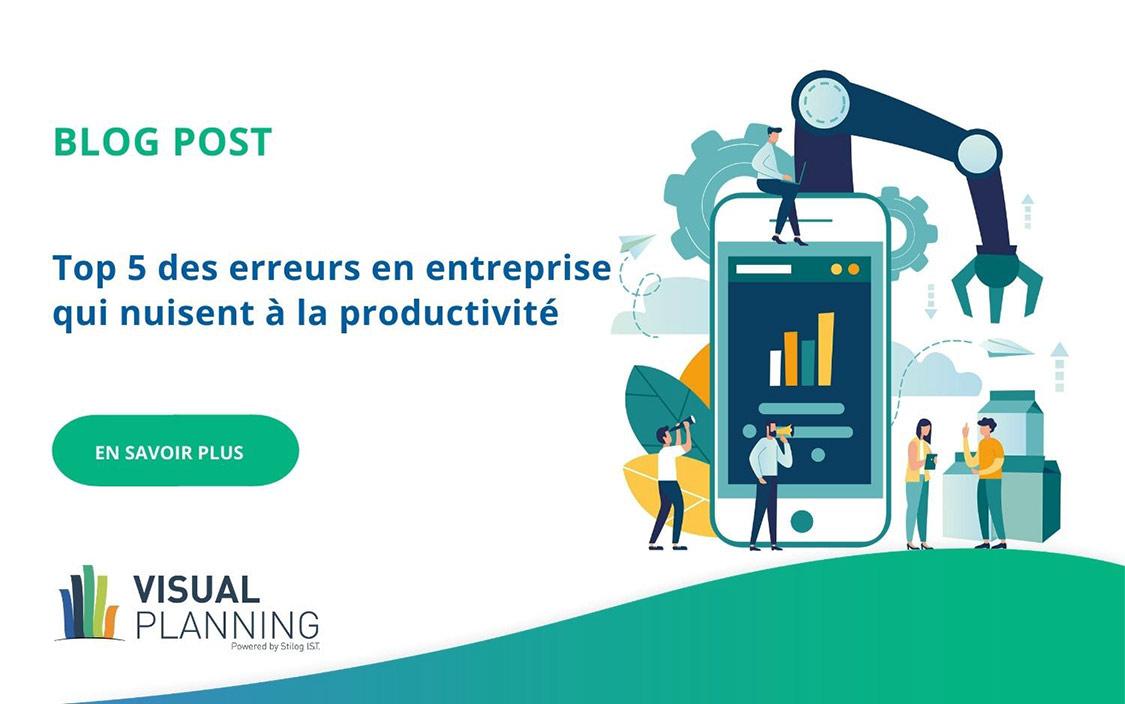 Top 5 des erreurs en entreprise qui nuisent à la productivité